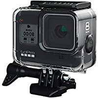FitStill Waterproof Housing for GoPro Hero 8 Black, Protective 45m Underwater Dive Case Shell with Bracket Accessories for Go Pro Hero8 Action Camera