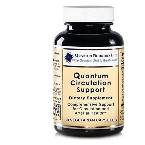 Quantum Circulation Support, 180 VCaps Vegan (3 Bottles) - Multi-Nutrient Circulation Formula for Comprehensive Support of Circuzyme and Arterial Health by Quantum Nutrition Labs