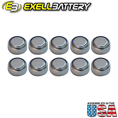 10pc Exell S76PX 1.55V Silver Oxide Battery 303 357 SR44 ...