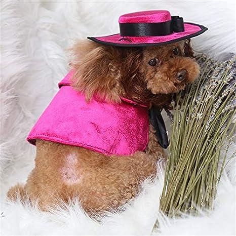 nbvmngjhjlkjl Gato Perro Mascota Capa Disfraces Peluca Sombrero Bulldog Francés Capas Manto Mascota Cachorro Producto Pitbull Navidad Halloween para Cat ...