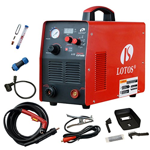 Plasma Cutter, Lotos Supreme CUT60D 60Amp Digital Control CNC Non-Touch Pilot Plasma Cutter with Plasma Gouging Function, Non-HF Blowback Arc Start CNC Plasma Cutter, Metal Cutter