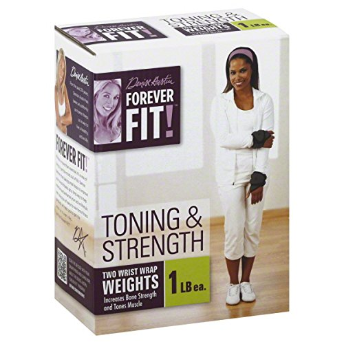 Forever Fit by Denise Austin, Wrist Wrap Weights, Toning & Strength, 1 lb Each 2 weights by BIG GAME INTERNATIONAL