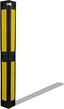 Uvv Reflex Eckwandschutz 90 Schwarz Retroreflektierende Folie Garagen Eckschutz Rammschutz Stützpfeiler Hausecken Gelb Baumarkt