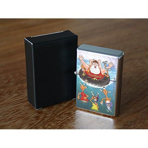 Briquet Chromé Essence Drôle Dessin Animé Père Noël en été Rarement Imprimé