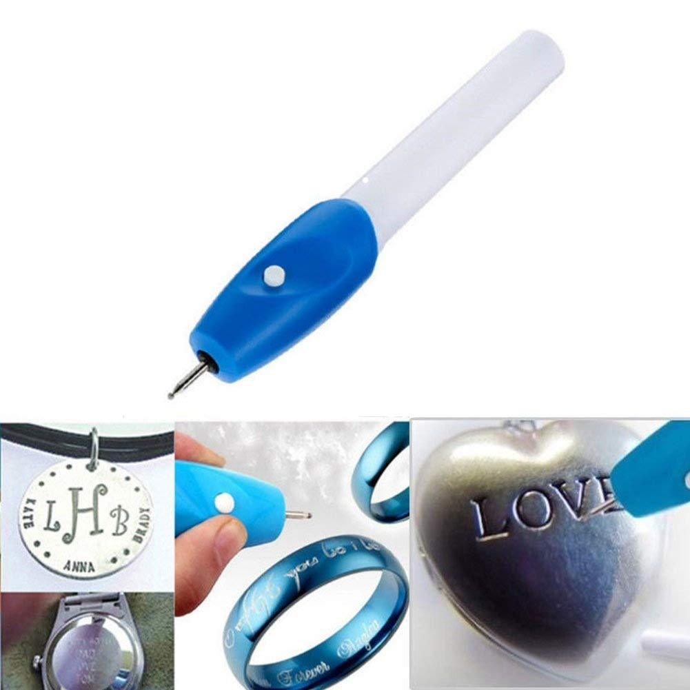 Easyinsmile Electric(Batteries not Included) Engraving Engraver Pen for DIY Jewelry Metal Glass Wood
