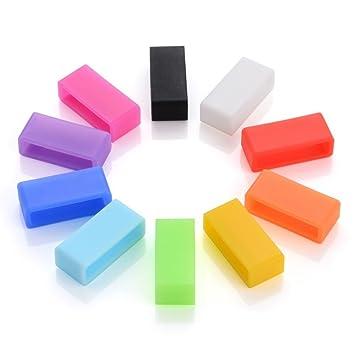 ssguer9 10 colores anillo de sujetadores de silicona para Fitbit alta inalámbrico actividad pulsera deporte pulsera cierre seguridad de fijación (10 ...