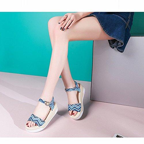 zapatos sandalias De zapatos size Bei Cuña Tacón Bao Sandalias Casuales 39 Firm zapatos Femeninos Xing Plataforma Bohemias qURxUwO4