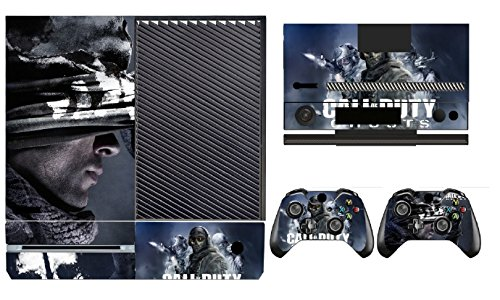 COD Ghosts 268 Skin Sticker Cover Decal Protector for XBOX ONE Console Kinect and 2 controller skins