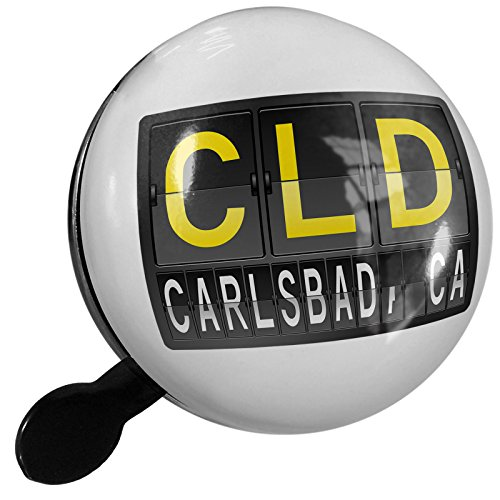Small Bike Bell CLD Airport Code for Carlsbad, CA - NEONBLOND (Cld Air)