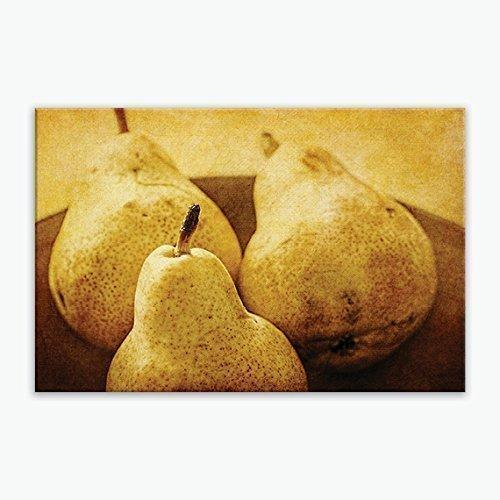 Amazon.com: Rustic Canvas Kitchen Wall Print, Large Pear Wall Decor ...