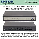 Dinstar DAG1000-4S4O FXS/FXO Mixed Analog VoIP Gateway