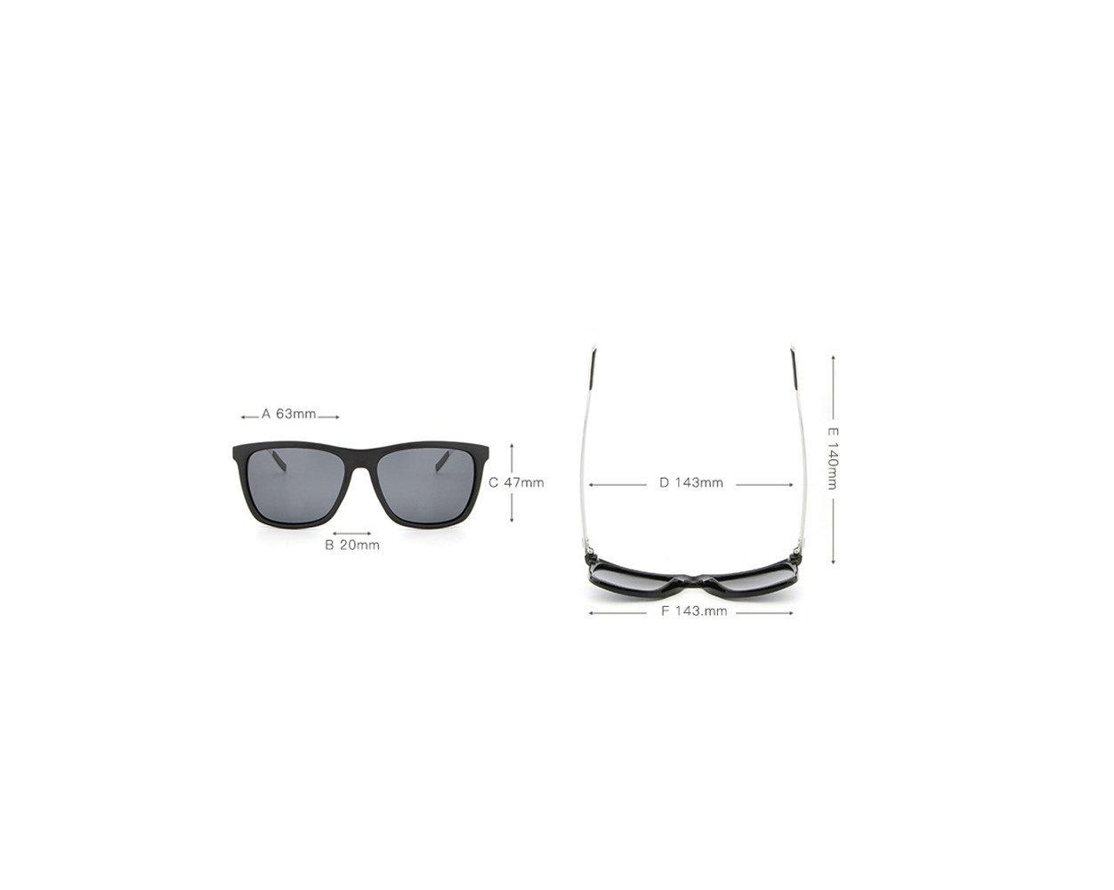 RFVBNM Gafas de sol de magnesio de Aluminio Gafas de Sol para Hombre Gafas de Sol para el Exterior de la Personalidad de Moda Anti-UV, Lente de Marco marrón ...