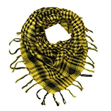 Trendy Plaid & Houndstooth Check Soft Square Scarf - Different Colors Available By TrendsBlue (Yellow & Black) by Kuldip