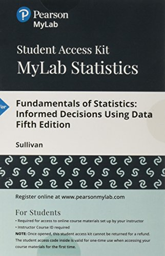 MyLab Statistics  with Pearson eText -- Standalone Access Card -- for Fundamentals of Statistics