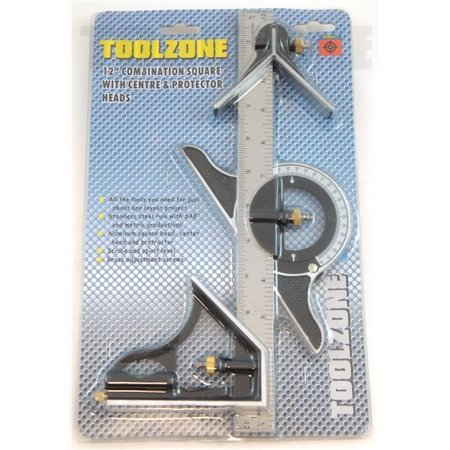 12' ENGINEERS COMBINATION PROTRACTOR SQUARE SET TOOLZONE