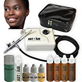 Best Airbrush Makeup Kits - Art of Air DARK Complexion Professional Airbrush Cosmetic Review