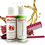 Brazilian Keratin Hair Treatment Complex and Clarifying Shampoo Kit - Professional Effective Fast Acting Formula Infused with Organic Pomegranate and Argan Oil