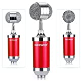 Neewer® Cardioid Condenser Broadcasting and Recording Microphone Kit includes: (1)Condenser Microphone with Build-in Pop Filter+(1)Shock Mount +(1)1/4\
