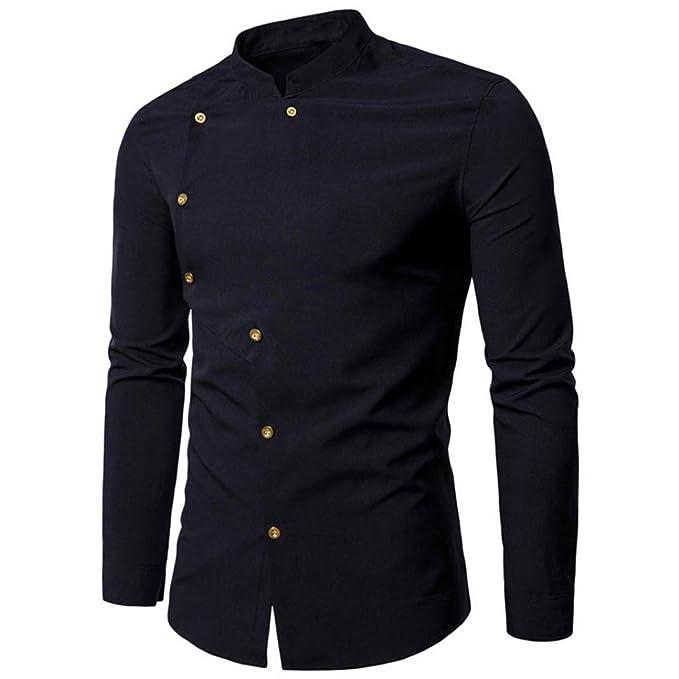 Amazon.com: WM & MW Hombres blusa, camisas de hombre doble ...