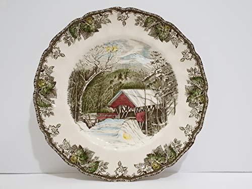 Dinner Plate Friendly Village - Johnson Brothers The Friendly Village Covered Bridge Dinner Plate