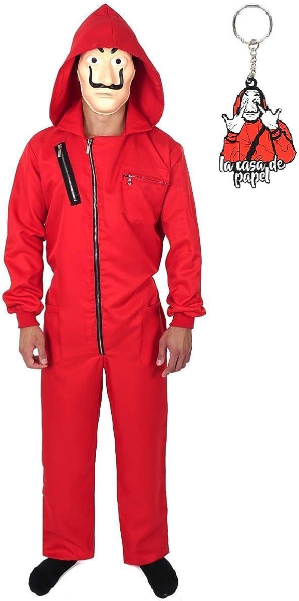 Casa De Papel La Traje Rojo Mono Para Halloween Cosplay Clothing