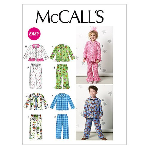 McCall's Patterns M6458 Toddlers'/Children's Tops and Pants, Size CB (1-2-3) McCall Pattern Company M6458CB0