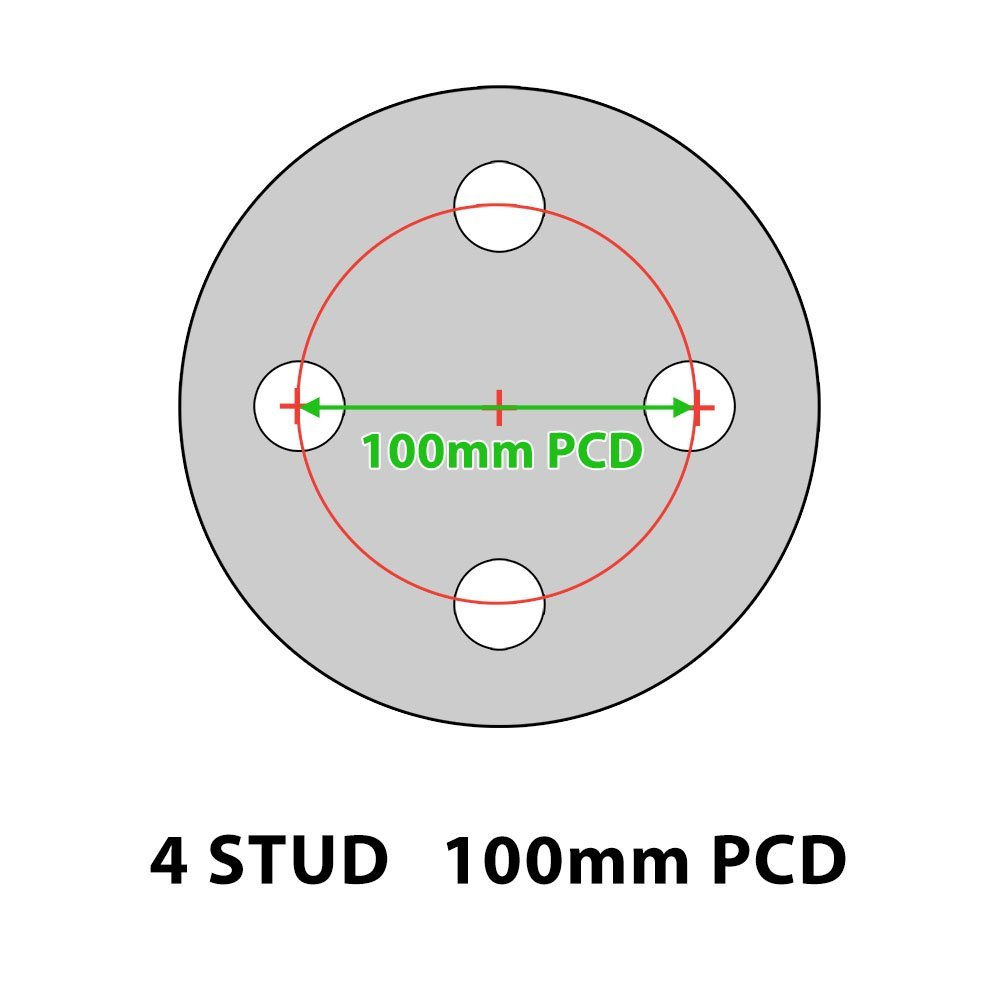 4.80/4.00-8 Spare Trailer Wheel and Tyre 4 Stud 100mm PCD: Amazon.co ...