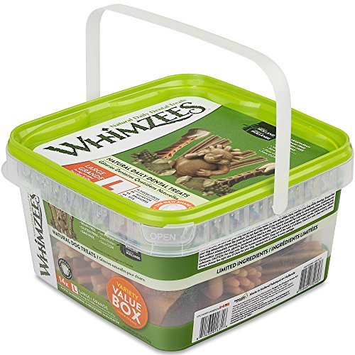 Whimzees Variety Value Box Large NET WT 29.6 OZ (14 pieces) ()