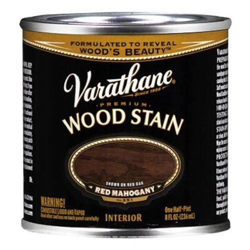 Varathane 211801 Premium Wood Stain, Half Pint, Red Mahogany