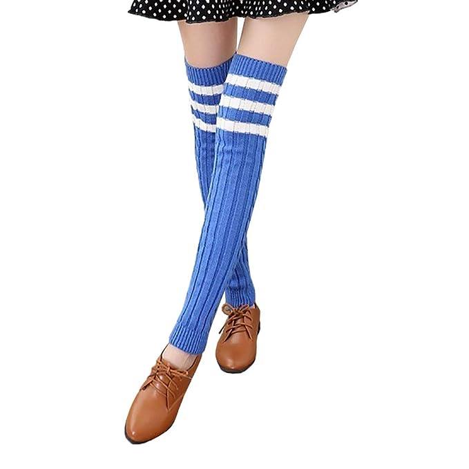 Boomly Calcetines Por Encima De La Rodilla Mujer Calcetines Sobre La Rodilla Invierno Medias Calentador De