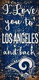 Fan Creations NFL St. Louis Rams La Rams I Love You to Signla Rams I Love You to Sign, Team, One Sizes