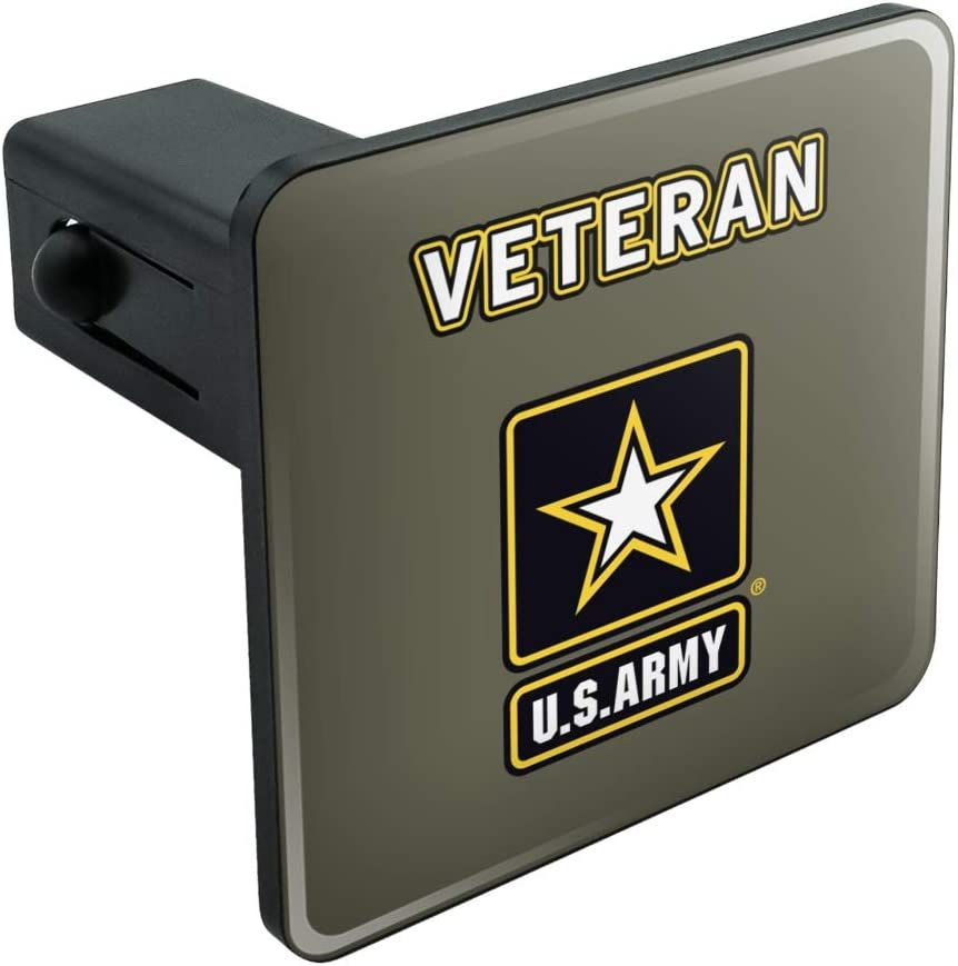 Graphics and More U.S Army Veteran Logo Tow Trailer Hitch Cover Plug Insert