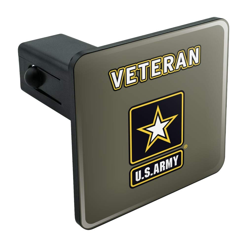 Army Veteran Logo Tow Trailer Hitch Cover Plug Insert Graphics and More U.S