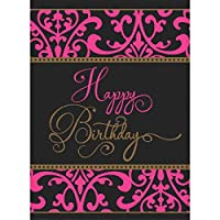 """Amscan Fabulous Birthday Bash Plastic Table Cover Party Tableware, Multicolor, 54"""" x 102"""""""