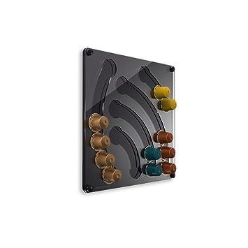PlexiDisplays 143112 - Dispensador de cápsulas de Nespresso, tamaño mini, color negro