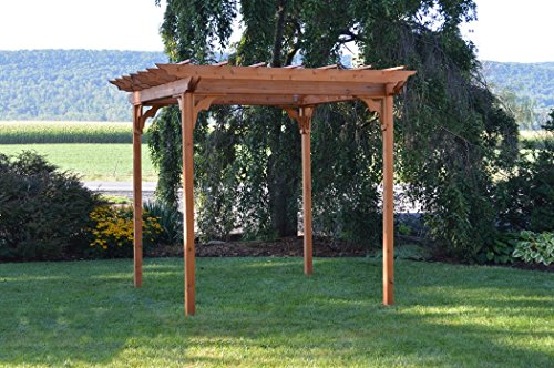 A & L Furniture Pergola with Swing Hangers, Unfinished -  700C-UNFINISHED