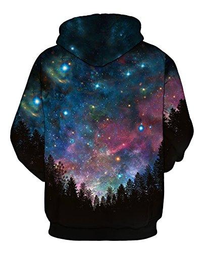 NEWCOSPLAY Unisex Hooded Sweatshirts Soft & Cozy Fashion Hoodies (XXL,Starry Woods) - Pattern Digital