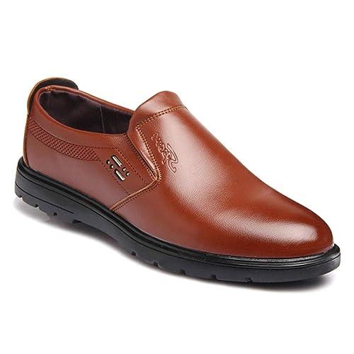 Gtagain Oxford Zapatos Mocasines Hombre - Hombres Cuero Derby Business Barco Conducción Calzado Oficina Smart Trabajo Formal Informal Boda Verano Cómodos: ...
