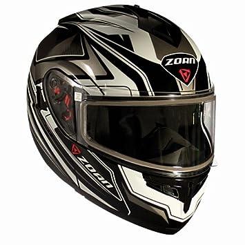Zoan Optimus Eclipse blanco Modular Flip Up motocicleta casco de equitación XL