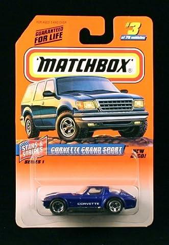 CORVETTE GRAND SPORT * BLUE * Stars & Stripes Series 1 MATCHBOX 1998 Basic Die-Cast Vehicle (#3 of - Tyco Corvette