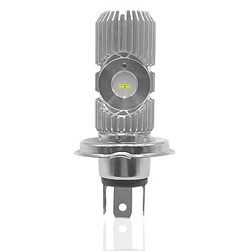 RUNGAO H4 - Bombilla LED para faros delanteros de motocicleta (bombilla COB HS1 Hi Lo 6500 K, 12 V): Amazon.es: Coche y moto