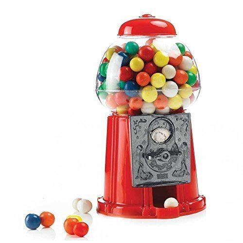 RETRO STYLE ALUMINIUM DESKTOP GUMBALL MACHINE - RED by Liberty Trading