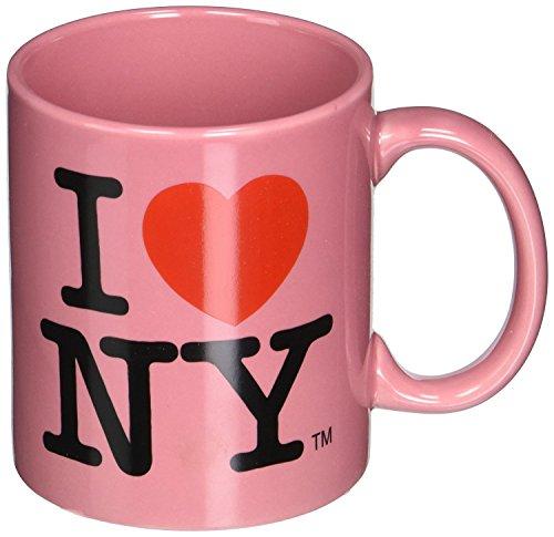 Official Pink I Love NY 11oz Ceramic Mug from New York Mugs Souvenir and Gift Store (Mug 11 Pink Ounce)