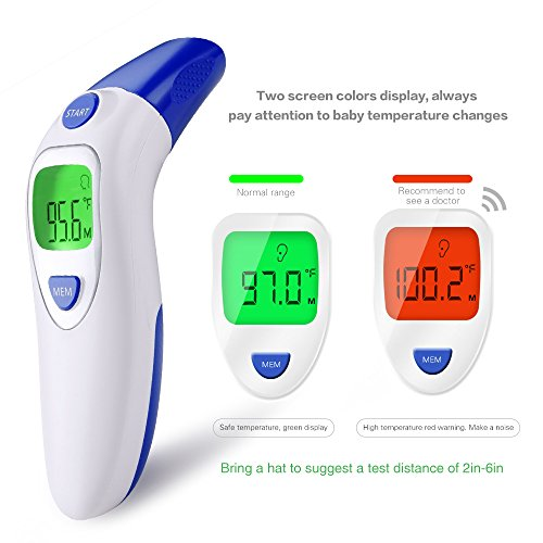 Dom Marzen Thermometer Ear Temperature Forehead Fever belly electronic Contact IR Baby Child Adult Old man FDA Without contact pingpang by Dom Marzen (Image #6)
