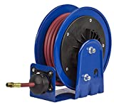 Coxreels LG-LP-125 LG Series Little Giant Compact Low Pressure Retractable Air/Water Hose Reel, 1/4'' Hose I.D., 25' Hose Capacity, 300 PSI, with Hose, Made in USA