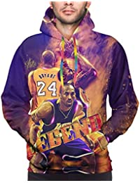 2020 Kobe-Bryant Number 24 Men's Hooded Hoodie, Kobe-Bryant Long Sleeve Pullover Sweatshirt