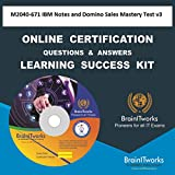 M2040-671 IBM Notes and Domino Sales Mastery Test v3 Online Certification Video Learning Made Easy