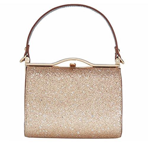 女性のバッグのスパンコールのイブニングバッグ2018新しい大容量ロックのパッケージの小さな正方形のバッグメッセンジャーバッグZYXCC