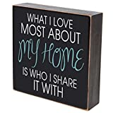 LifeSong Milestones What I Love Most About My Home Is Who I Share It With wedding anniversary gift for couple, housewarming gift ideas for Mr. and Mrs. shadow box 6''x6'' (Be strong) (What I love most)