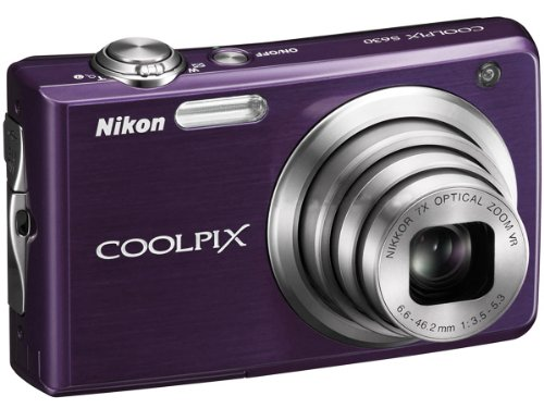 (Nikon Coolpix S630 12MP Digital Camera w/ 7x Optical Vibration Reduction (VR) Zoom, 2.7
